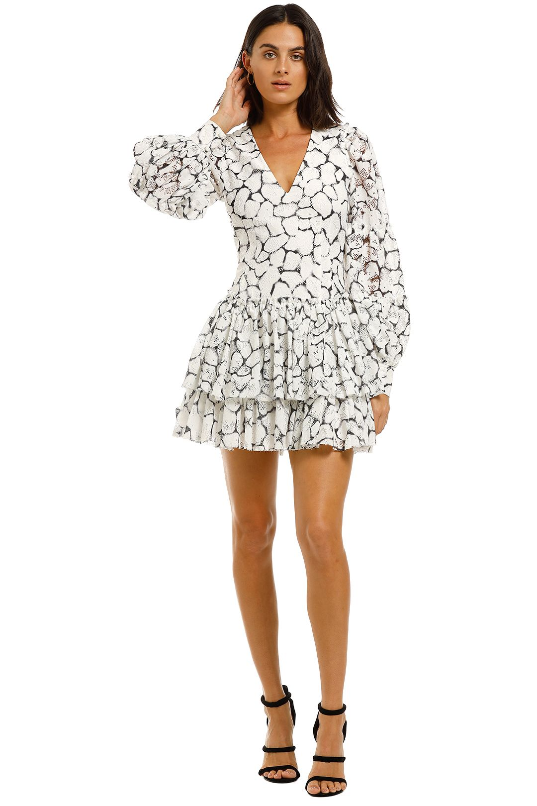 AJE-Rebellion-Lace-Mini-Dress-Front