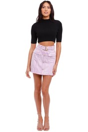 AJE Arlow Denim Mini Skirt