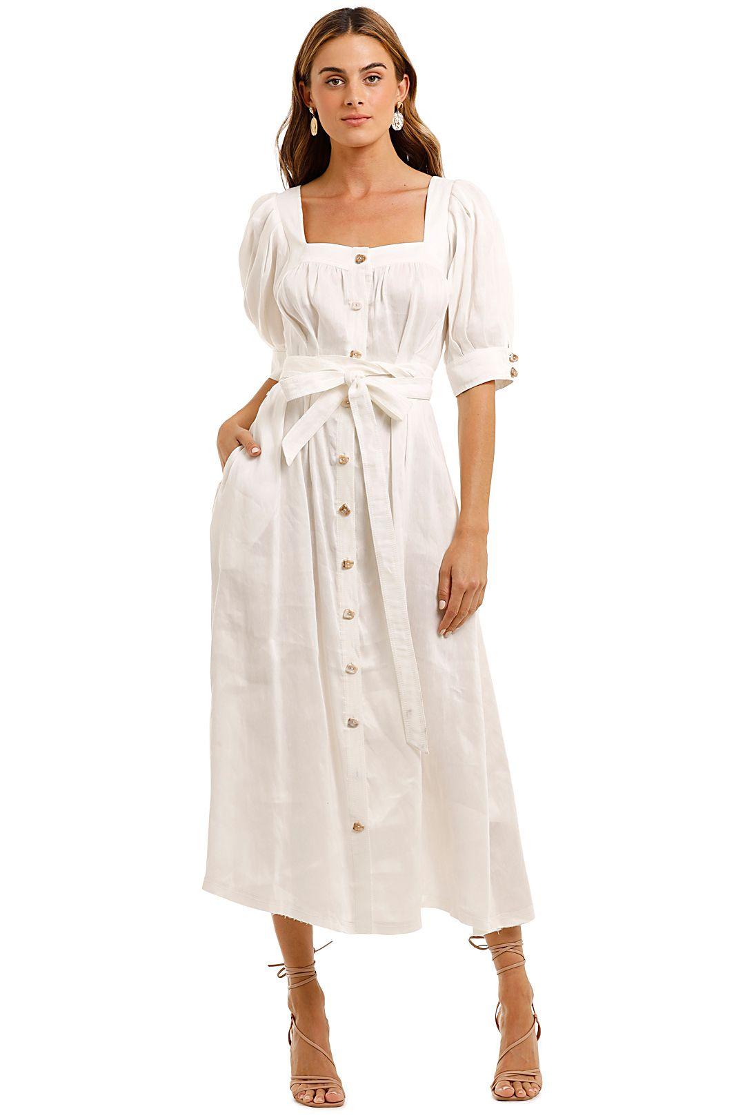 AJE Aspect Midi Dress straight square neck