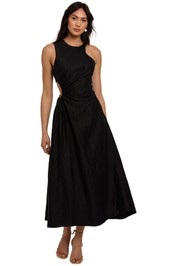 AJE Chateau Cut Out Dress black