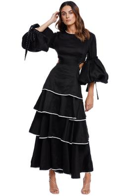 AJE Gracious Cut Out Dress tiered