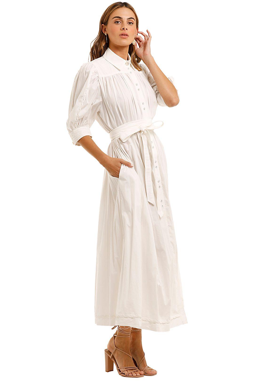 AJE Organic Manifest Dress white belted