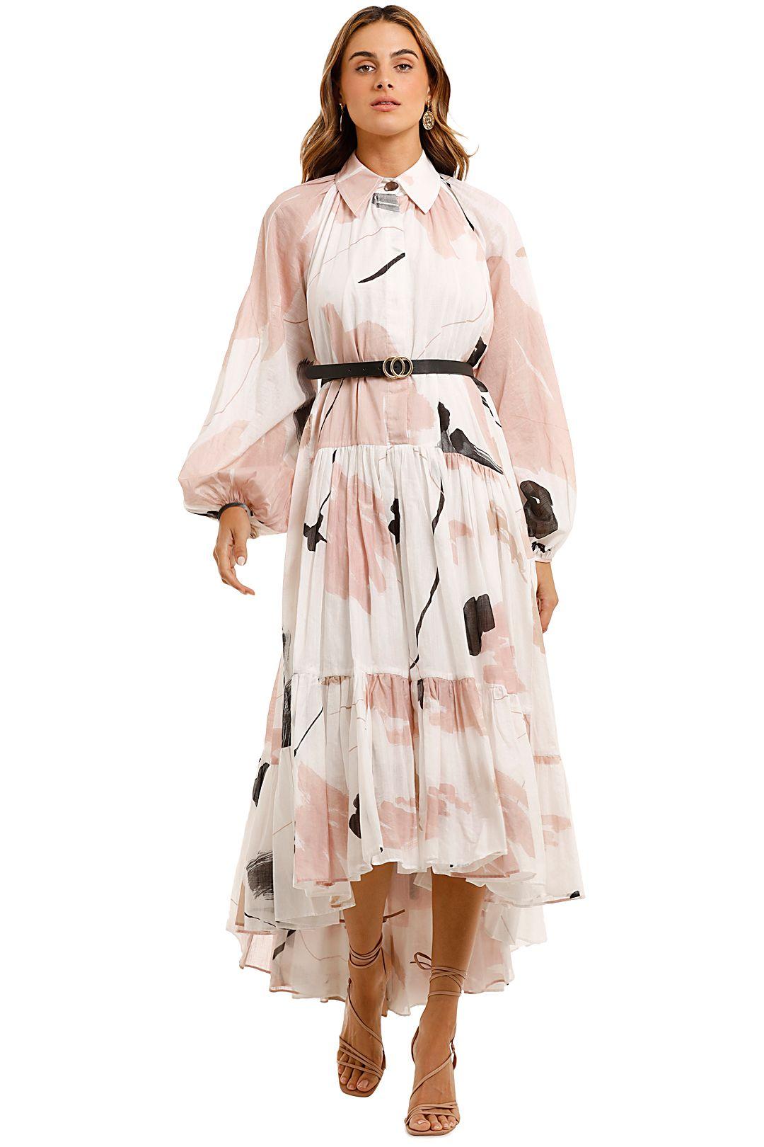 AJE Serenity Smock Maxi Dress