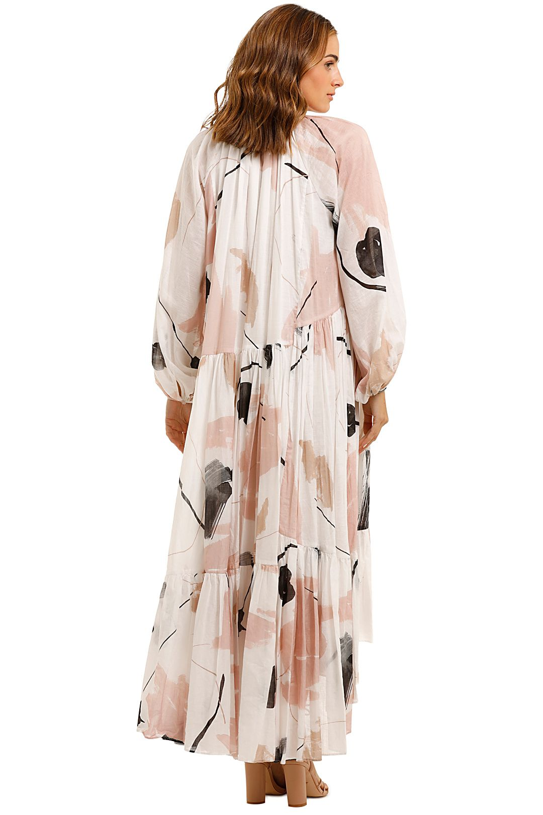 AJE Serenity Smock Maxi Dress Hi Low