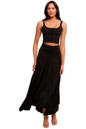 AJE Veil Skirt black