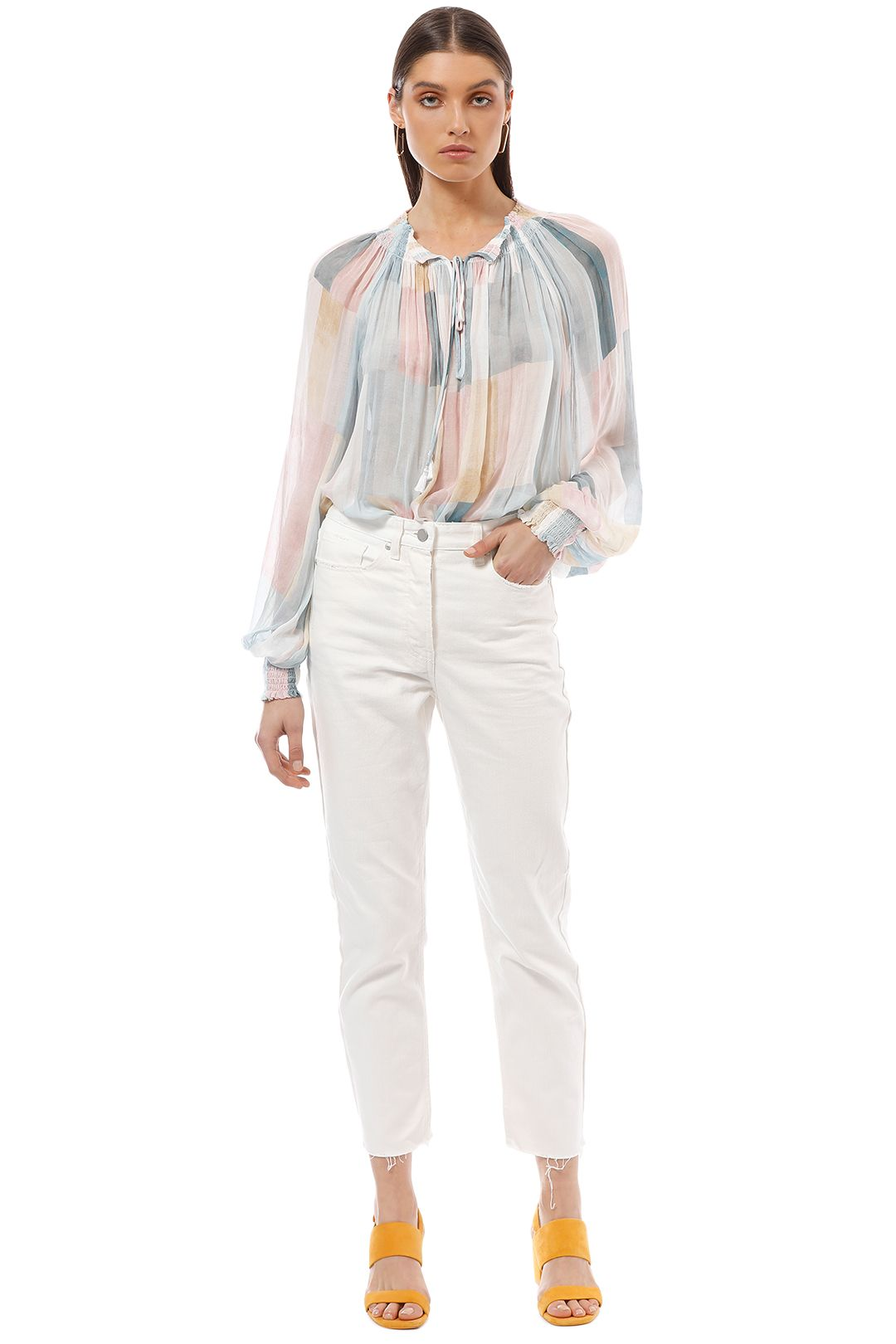 Ginger and Smart - Rapture Blouse - Watercolour Print - Front