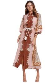 Alemais Ursula Belted Midi Dress