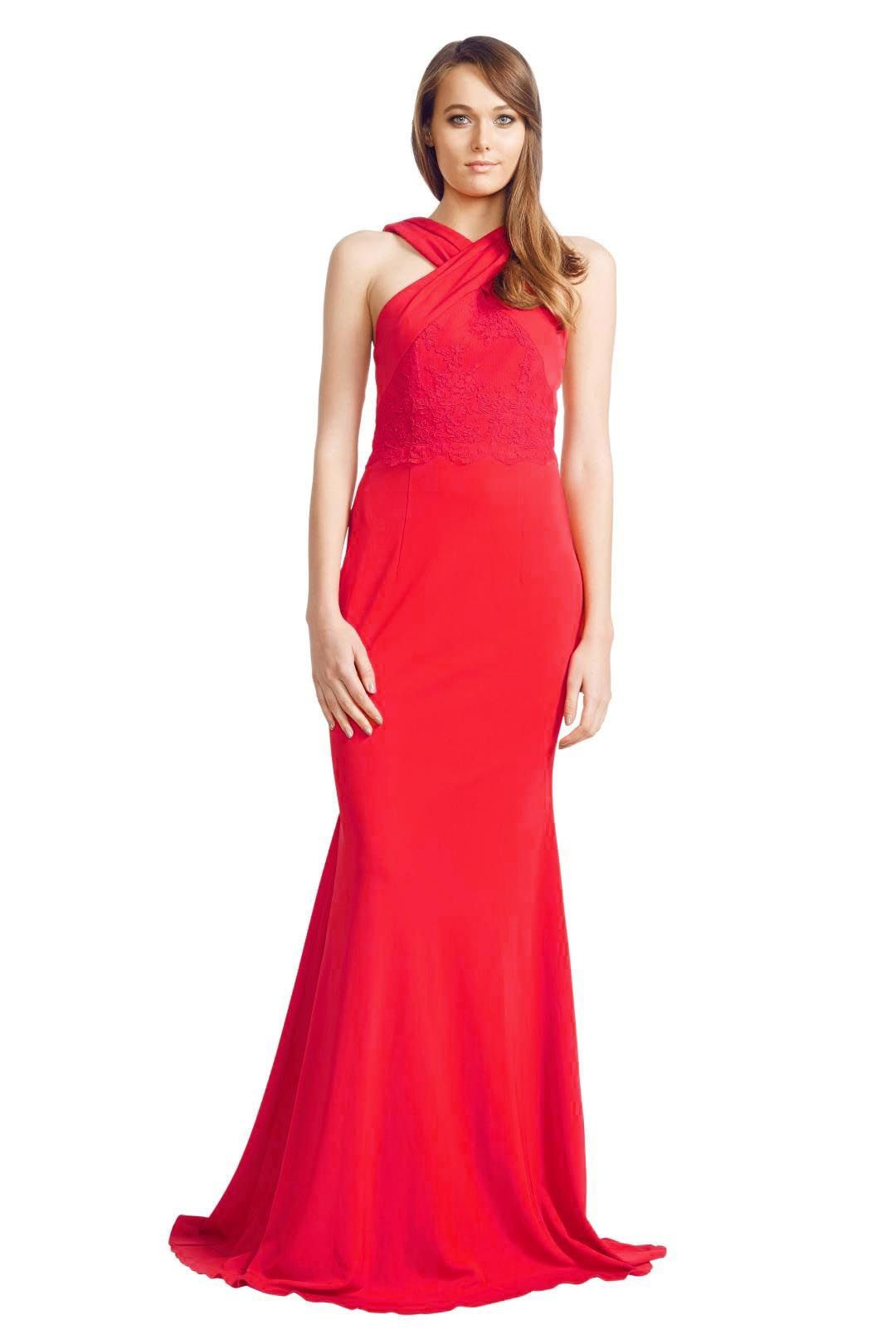 Alex Perry - Aimee Gown - Red - Front