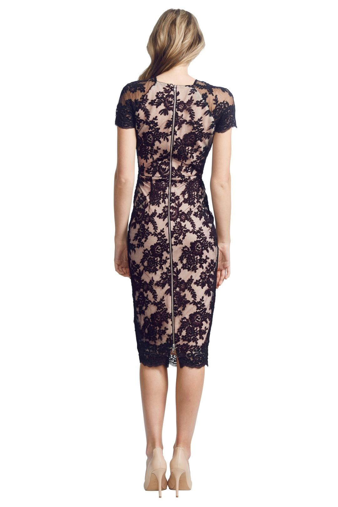 Alex Perry - Francoise Dress - Black - Back