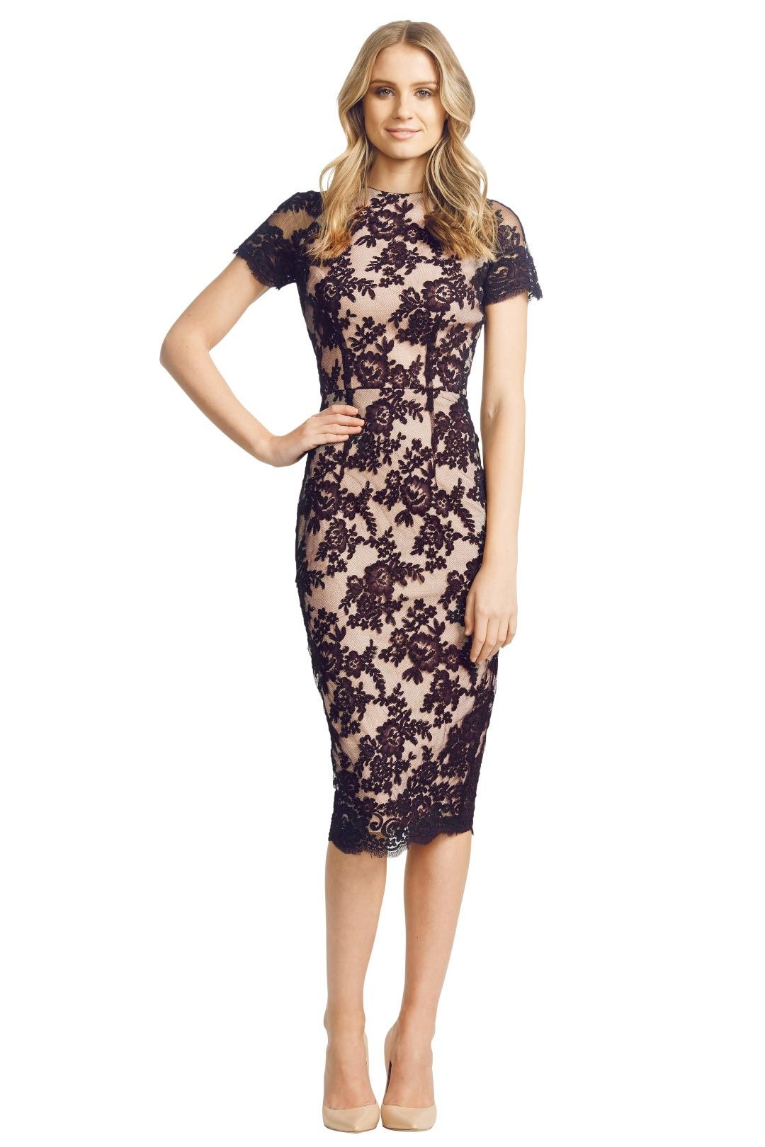 Alex Perry - Francoise Dress - Black - Front