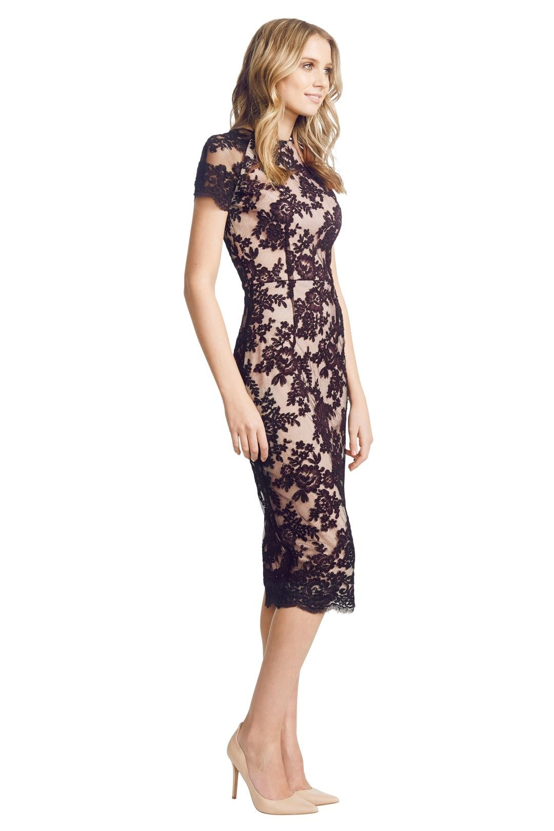 Alex Perry - Francoise Dress - Black - Side