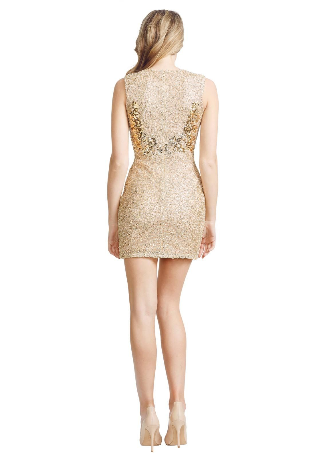 Alex Perry - Gilda Dress - Gold - Back