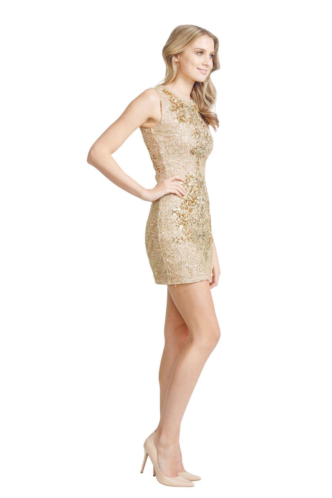 Alex Perry - Gilda Dress - Gold - Side