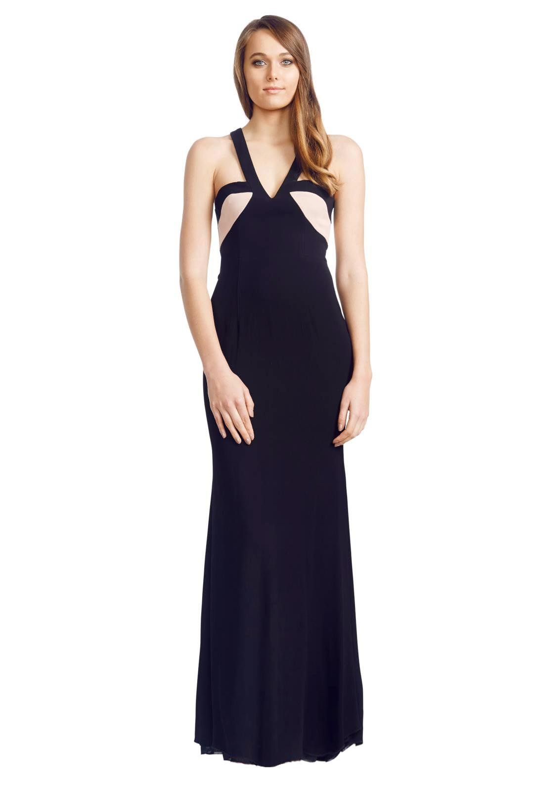 Alex Perry - Illana Gown - Black - Front