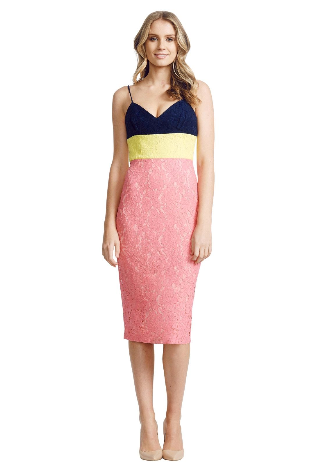 Alex Perry - Linda Dress - Pink - Front