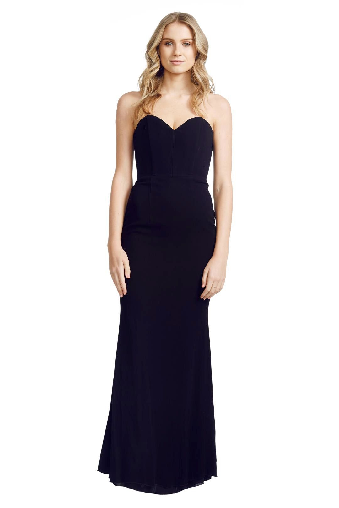Alex Perry - Louise Gown - Black - Front