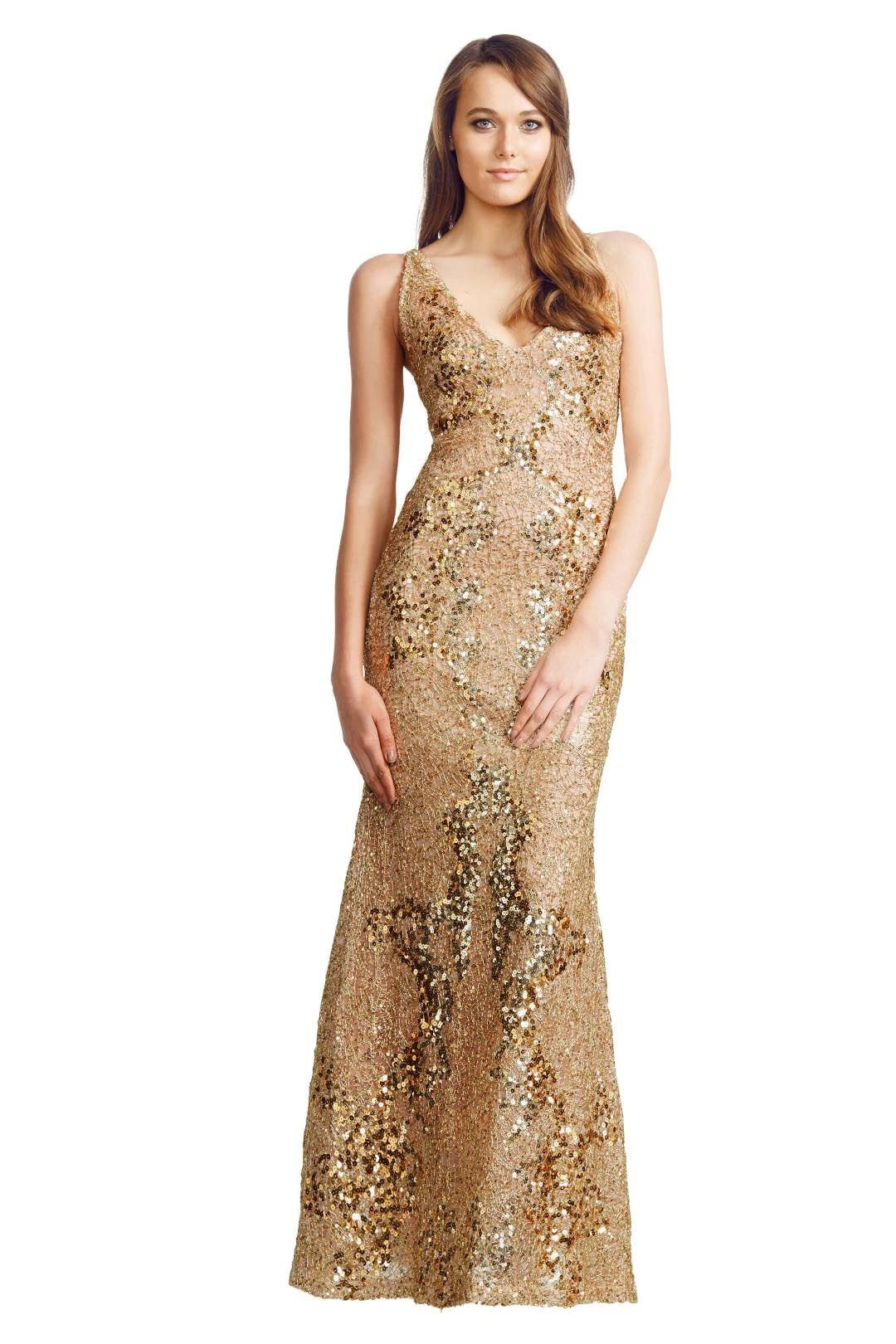 Alex Perry - Midas Gown - Gold - Front