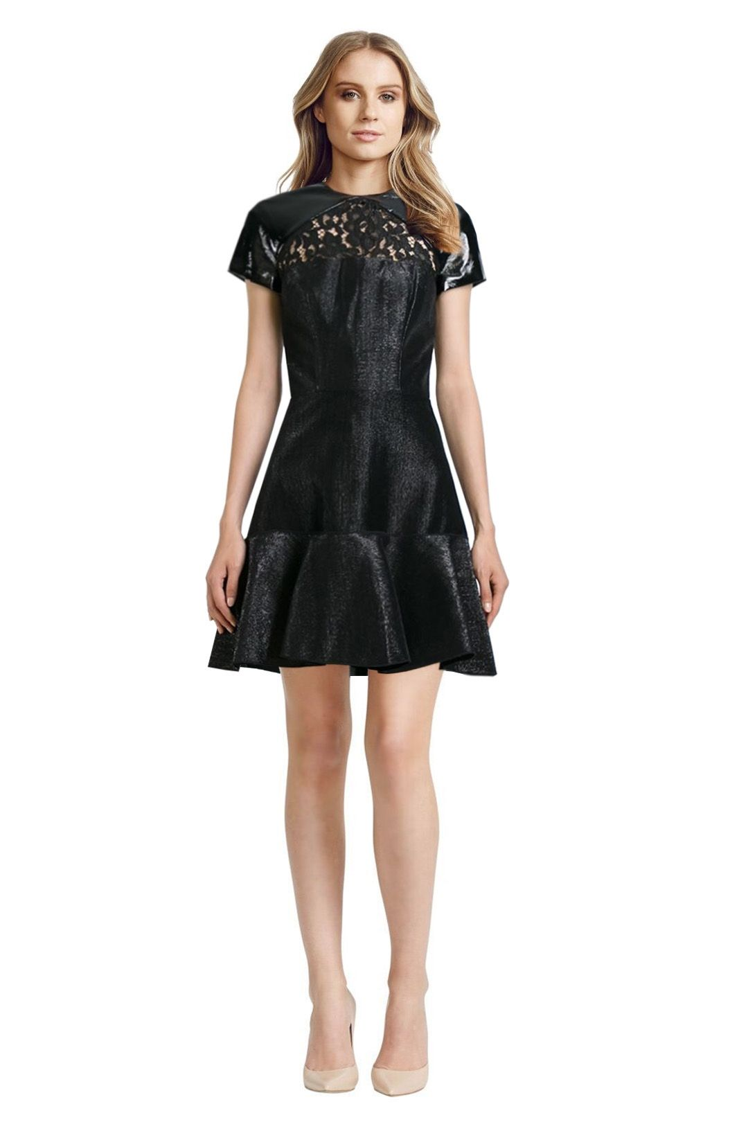 Alex Perry - Pascale Dress - Black - Front