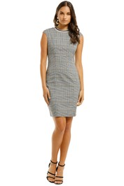 Alexia-Admor-Gabriella-Cap-Sleeve-Plaid-Sheath-Front