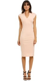 Alexia-Admor-Katrina-V-Neck-Midi-Dress-Blush-Front