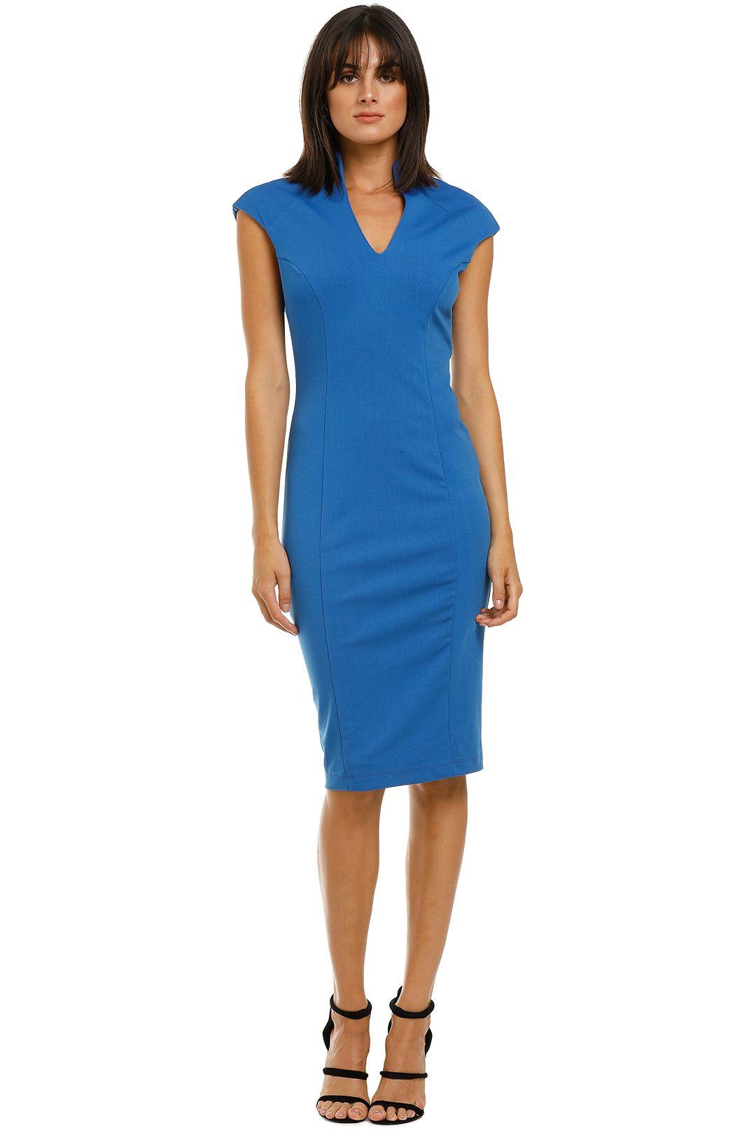 Alexia-Admor-Katrina-V-Neck-Midi-Dress-Cobalt-Front