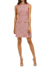 Alexia-Admor-Klara-Tweed-Dress-Pink-Front