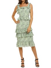 Alexia-Admor-Liv-Floral-Ruffle-Midi-Dress-Green-Ditzy-Back