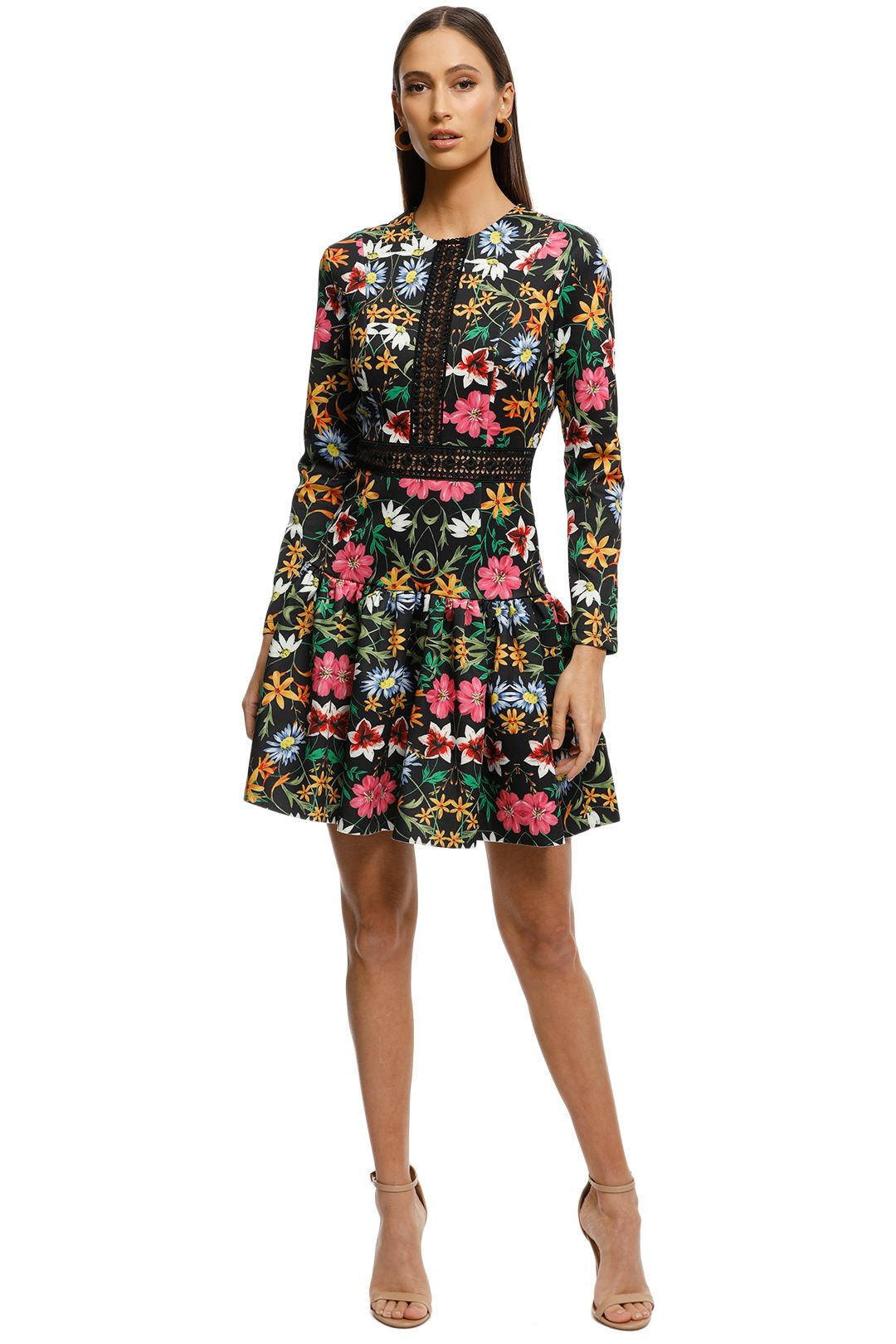 Alexia-Admor-Long-Sleeve-Lace-Knit-Trim-Floral-Print-Dress-Black-Multi-Front
