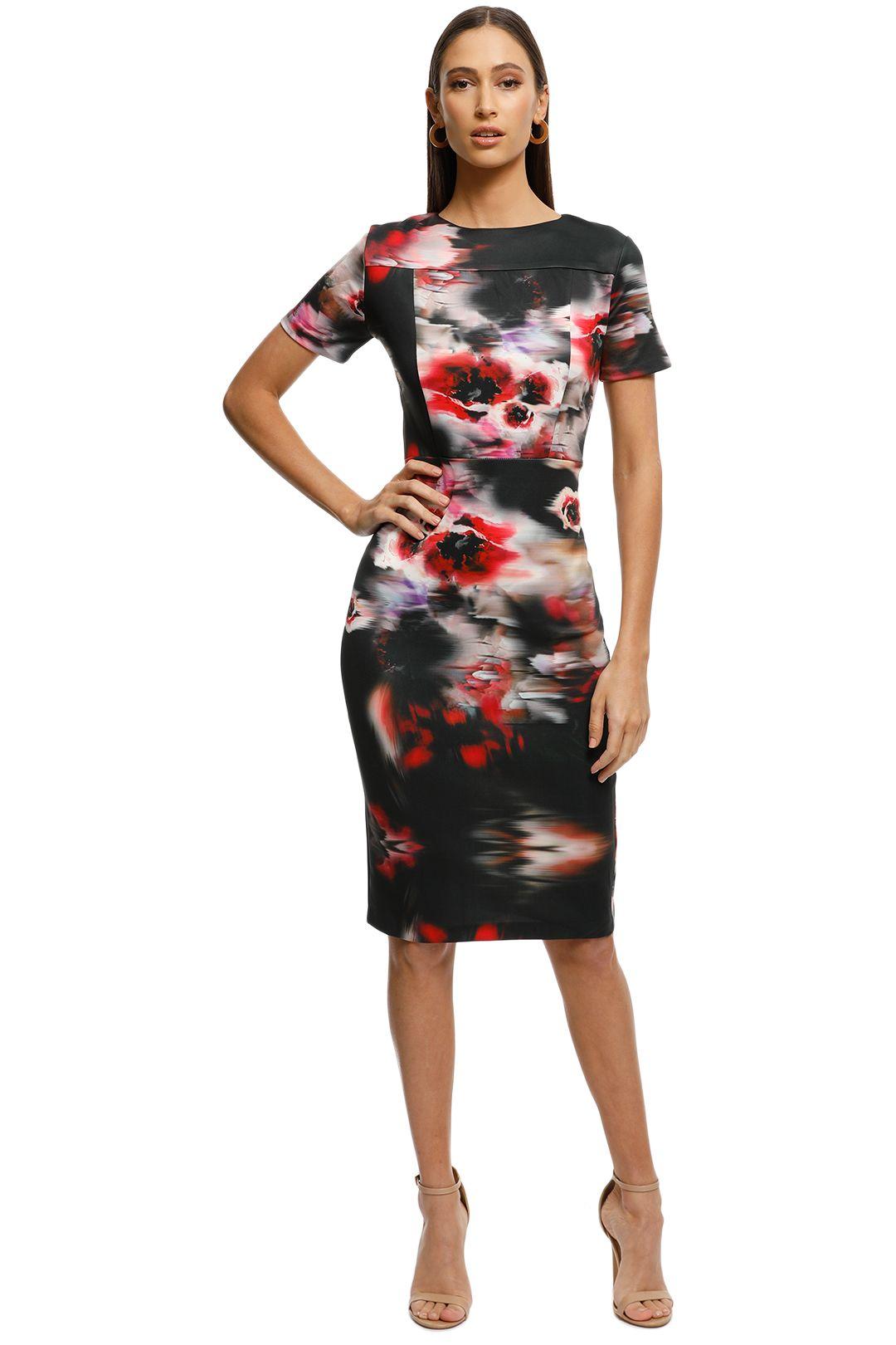 Alexia-Admor-Scuba-Midi-Sheath-Dress-Abstract-Front