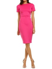 Alexia-Admor-Scuba-Sheath-Dress-Hot-Pink-Front