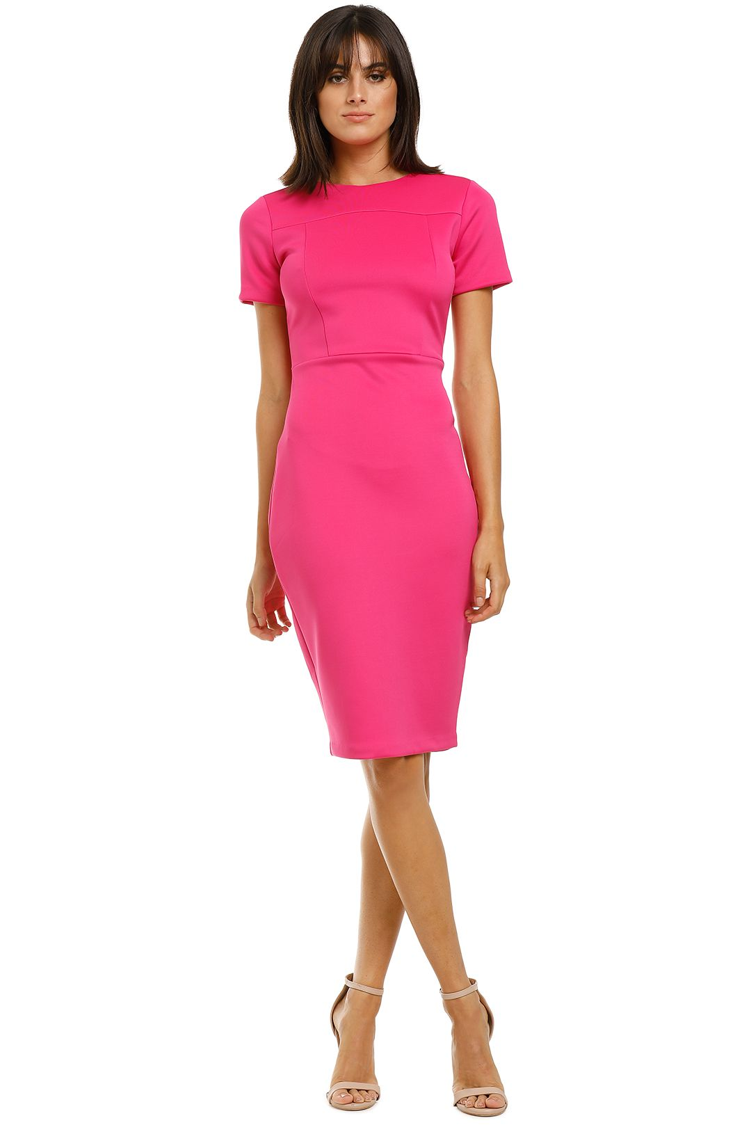 Alexia-Admor-Scuba-Sheath-Dress-Hot-Pink-Front