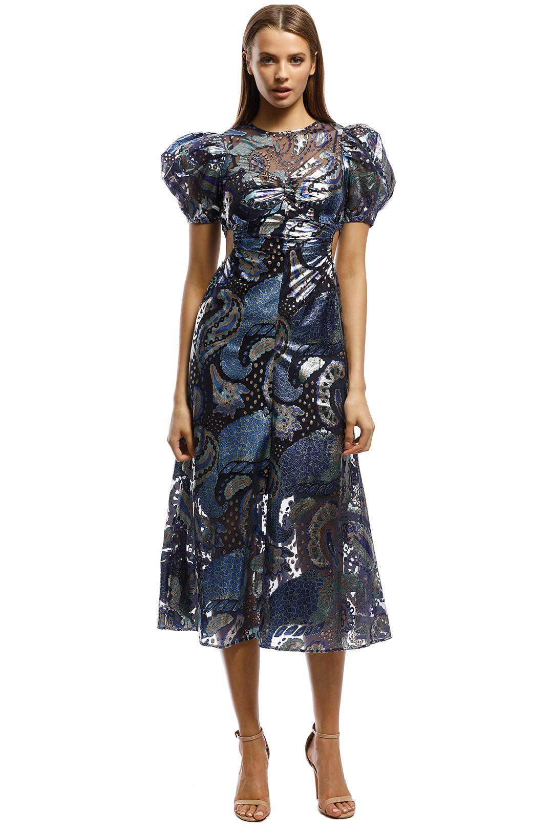 Alice McCall-Florette Dress-Royal-Front