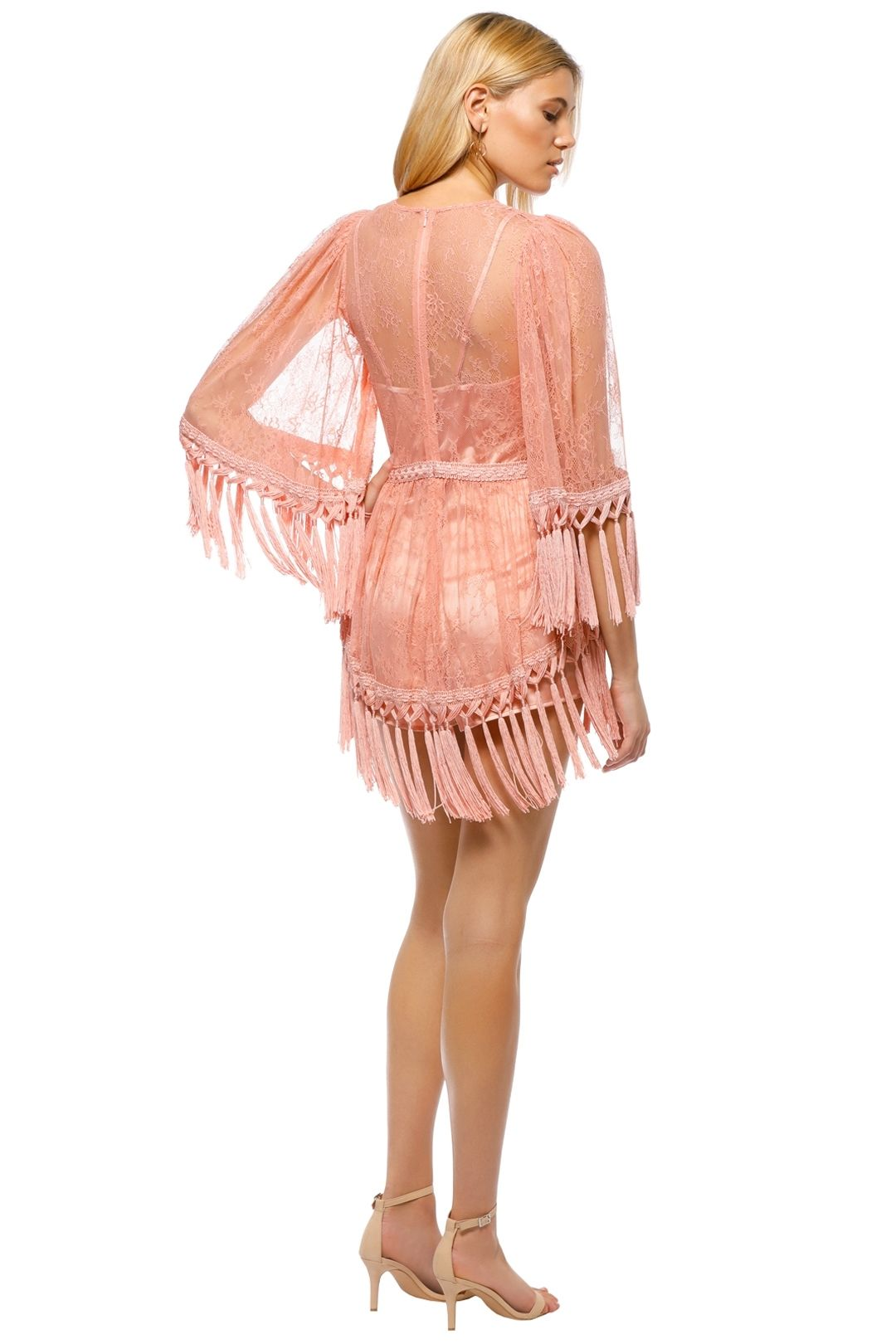 Alice McCall - Are You Ready Girl Mini Dress - Dusty Rose - Back
