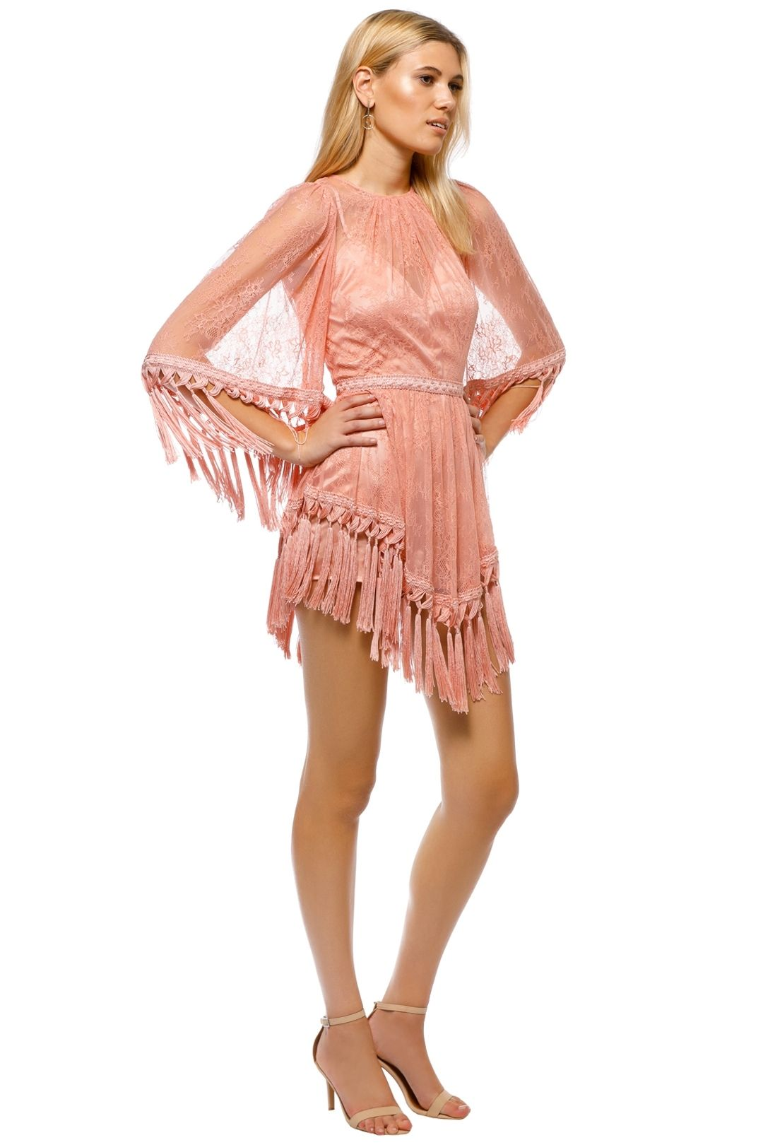 Alice McCall - Are You Ready Girl Mini Dress - Dusty Rose - Side