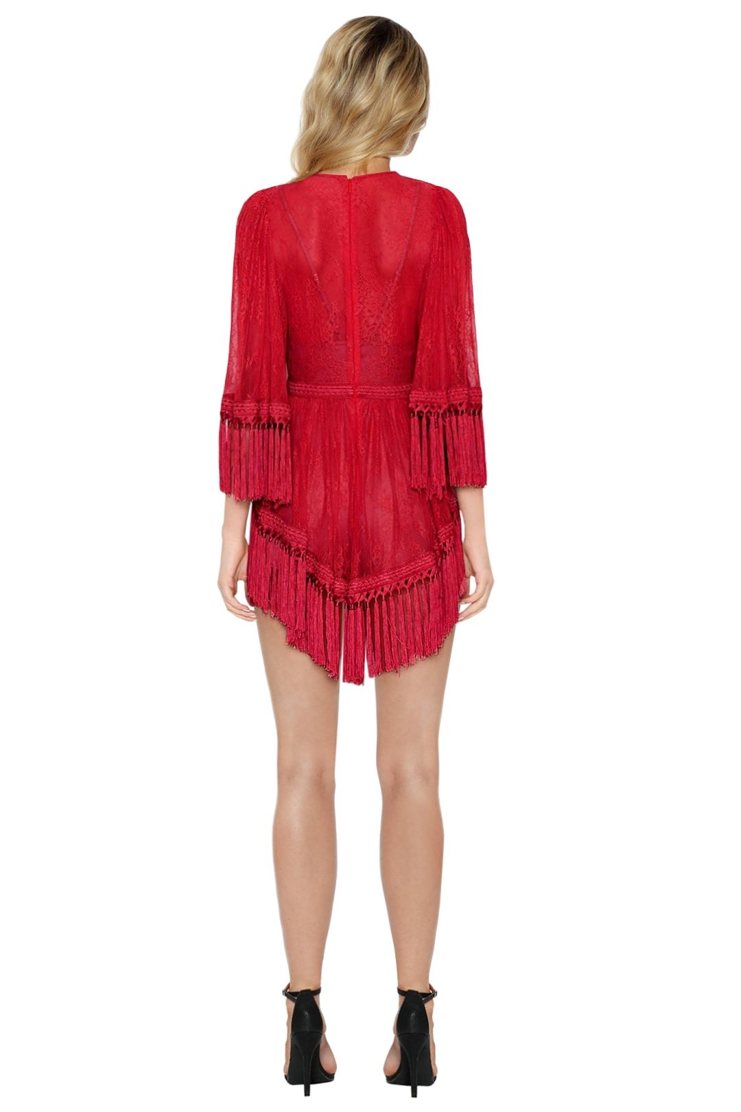 Alice McCall - Are You Ready Girl Mini Dress - Red - Back