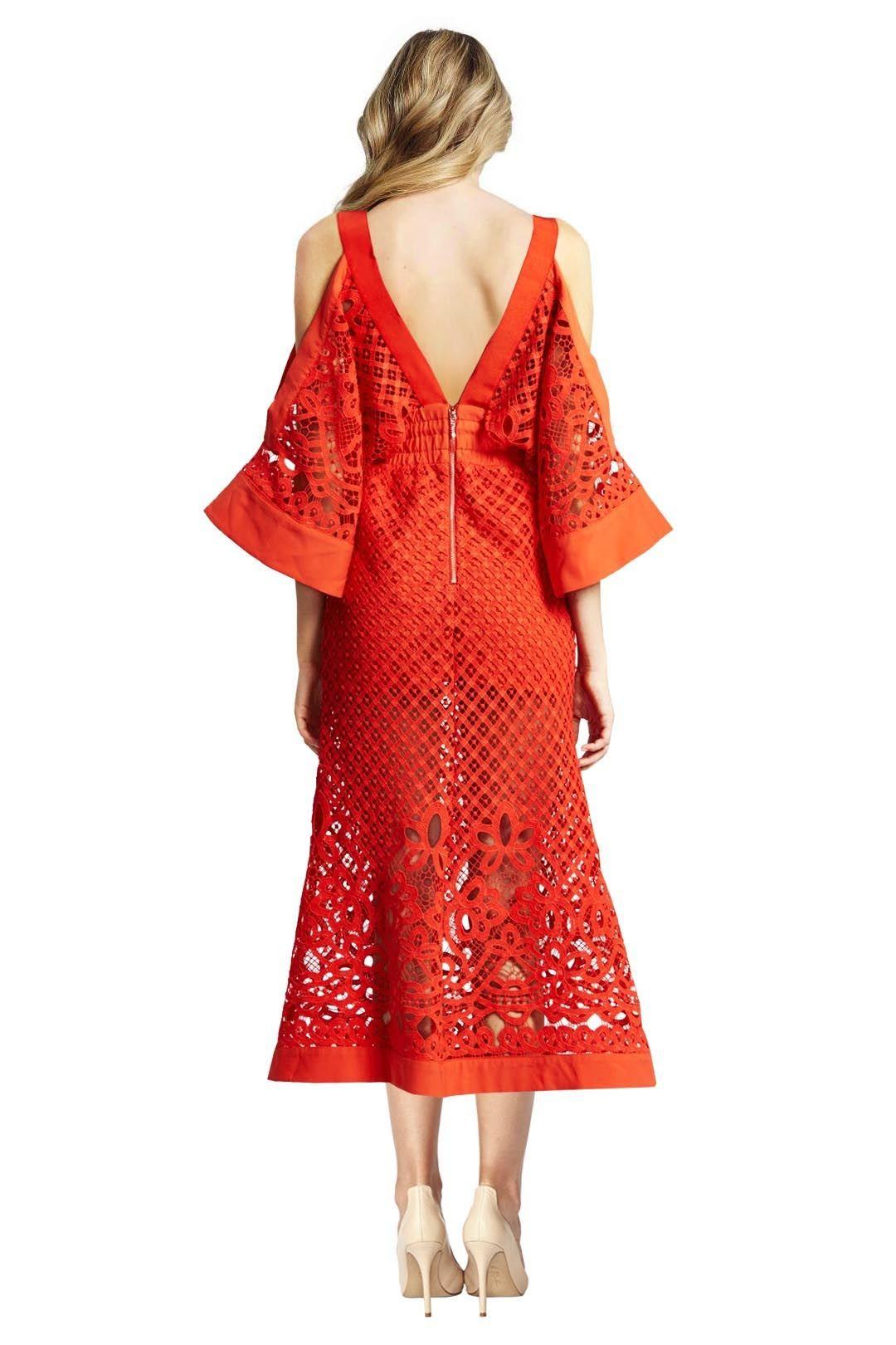Alice McCall - Break my Love Dress - Red - Back