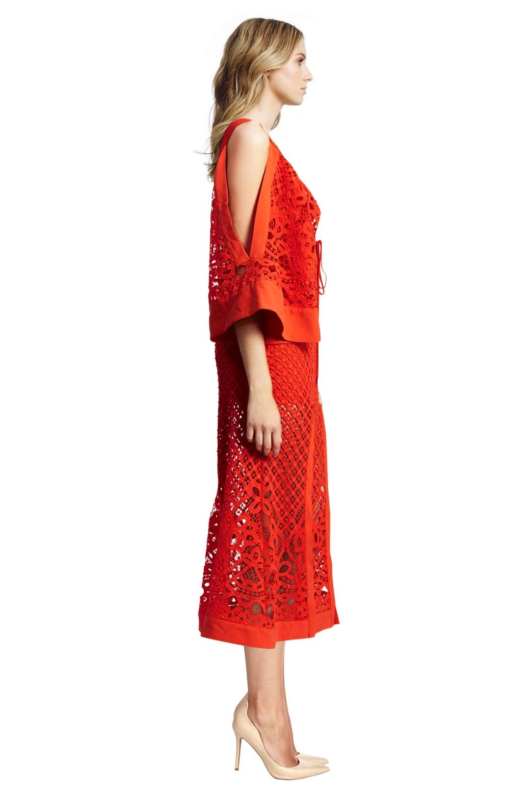 Alice McCall - Break my Love Dress - Red - Side