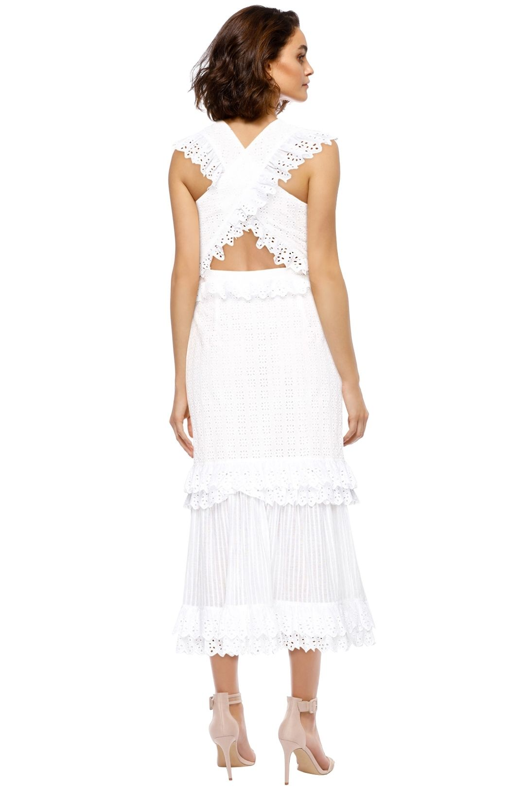 Alice McCall - Everything She Wants Dress - Porcelain White - Back