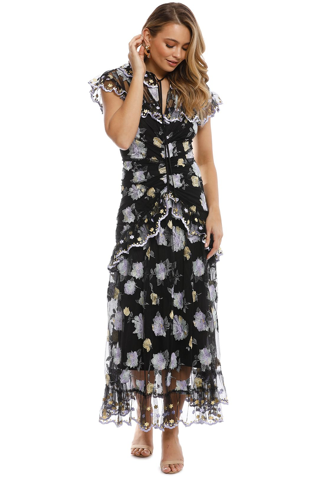 Alice McCall - Floating Delicately Dress - Black - Front