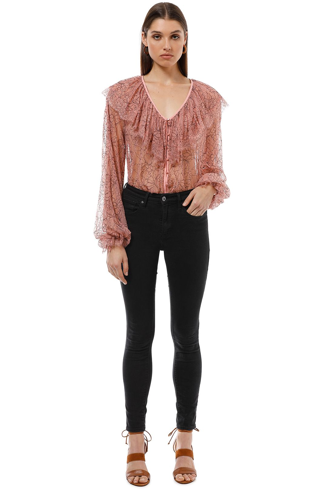 Alice McCall - Folklore Blouse - Blush Pink - Front