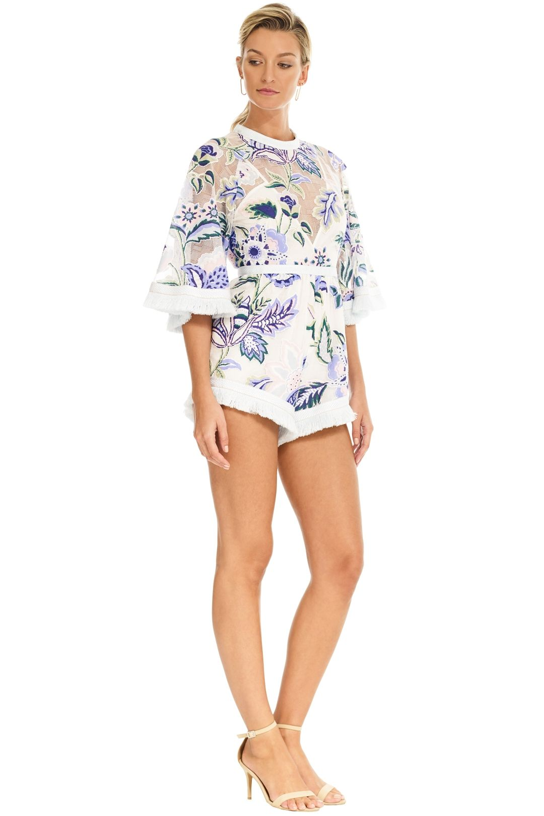 Alice McCall - Georgie Boy Playsuit - White Thistle - Side