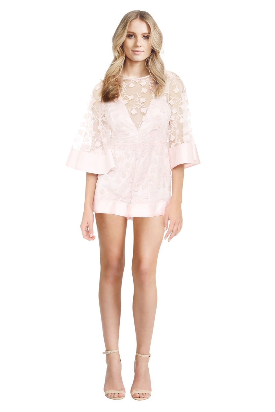 Alice McCall - Gypsy Eyes Playsuit - Blush - Front