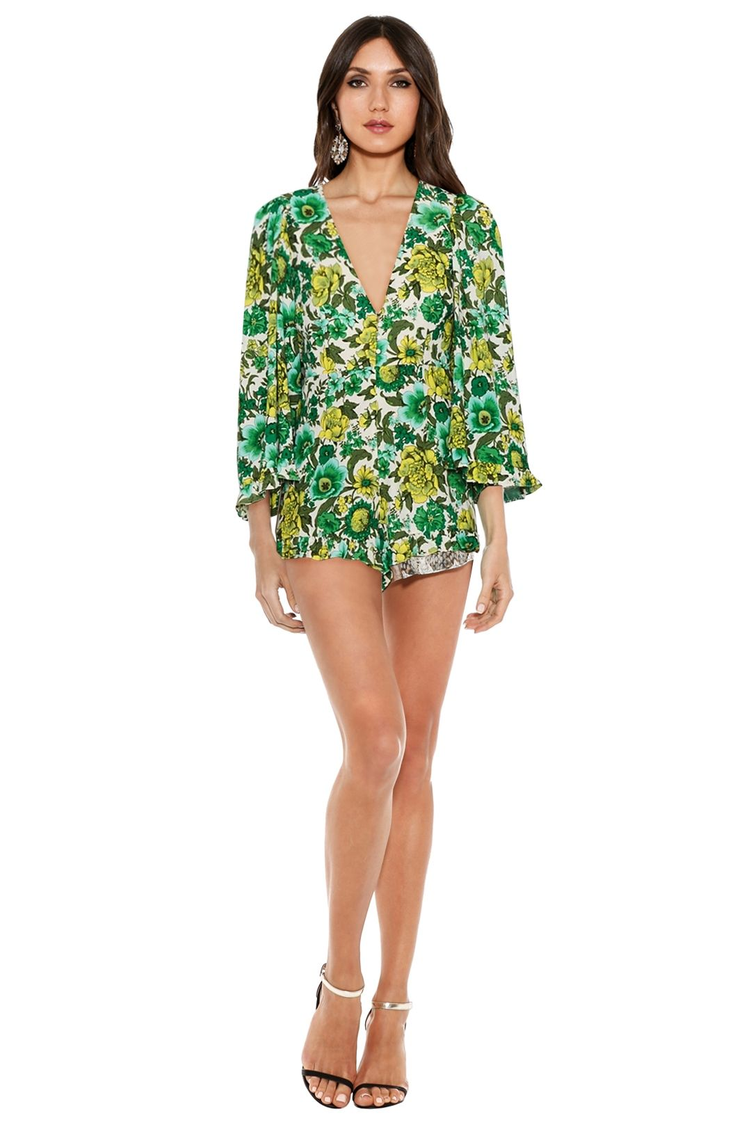Alice McCall - J'Adore Playsuit - Forest Green - Front