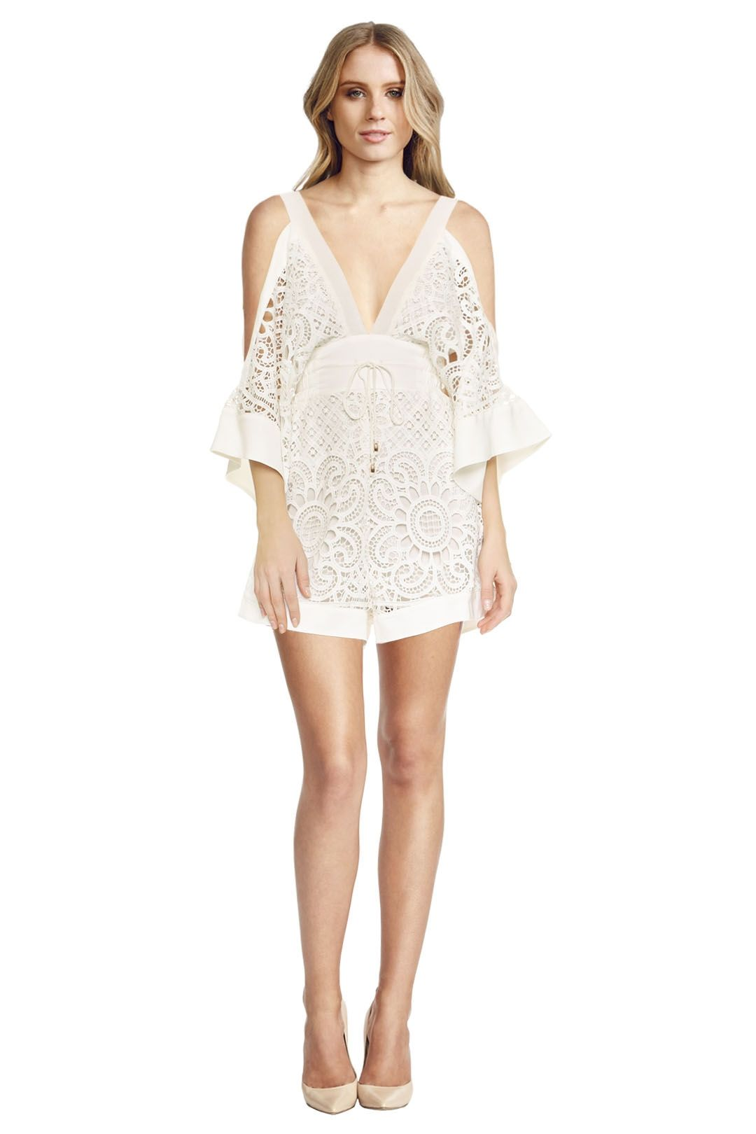 Alice McCall - Keep me there Playsuit - White - Front