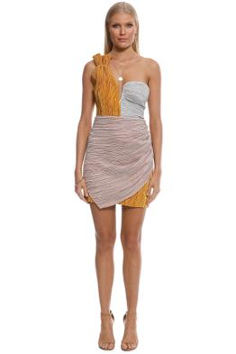 Alice McCall - Little Something Something Dress - Gold Multi - Front