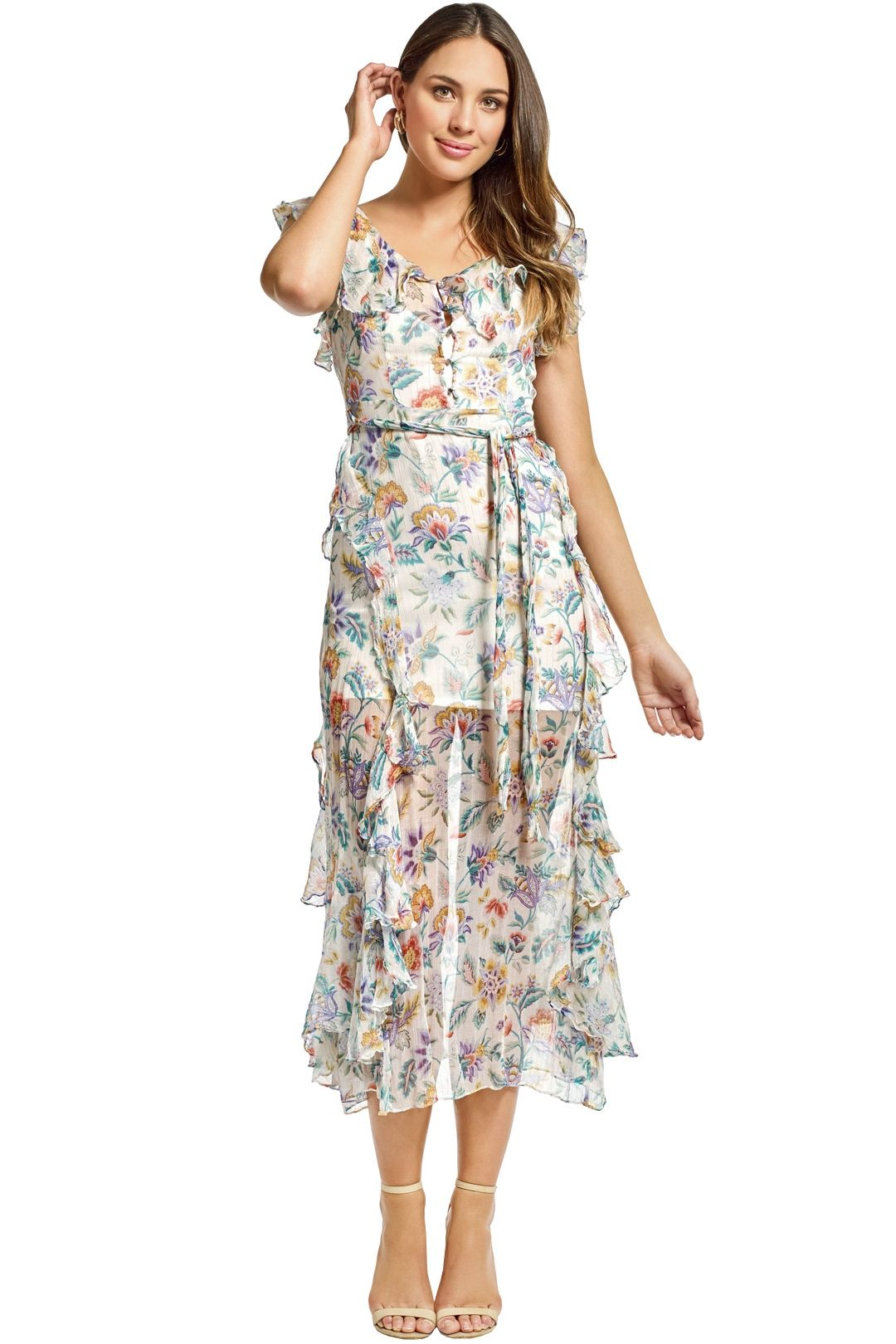 Alice McCall - Oh Oh Oh Maxi Dress - Ivory Garden - Front