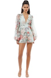 Alice McCall - One By One Playsuit - Peppermint - Front