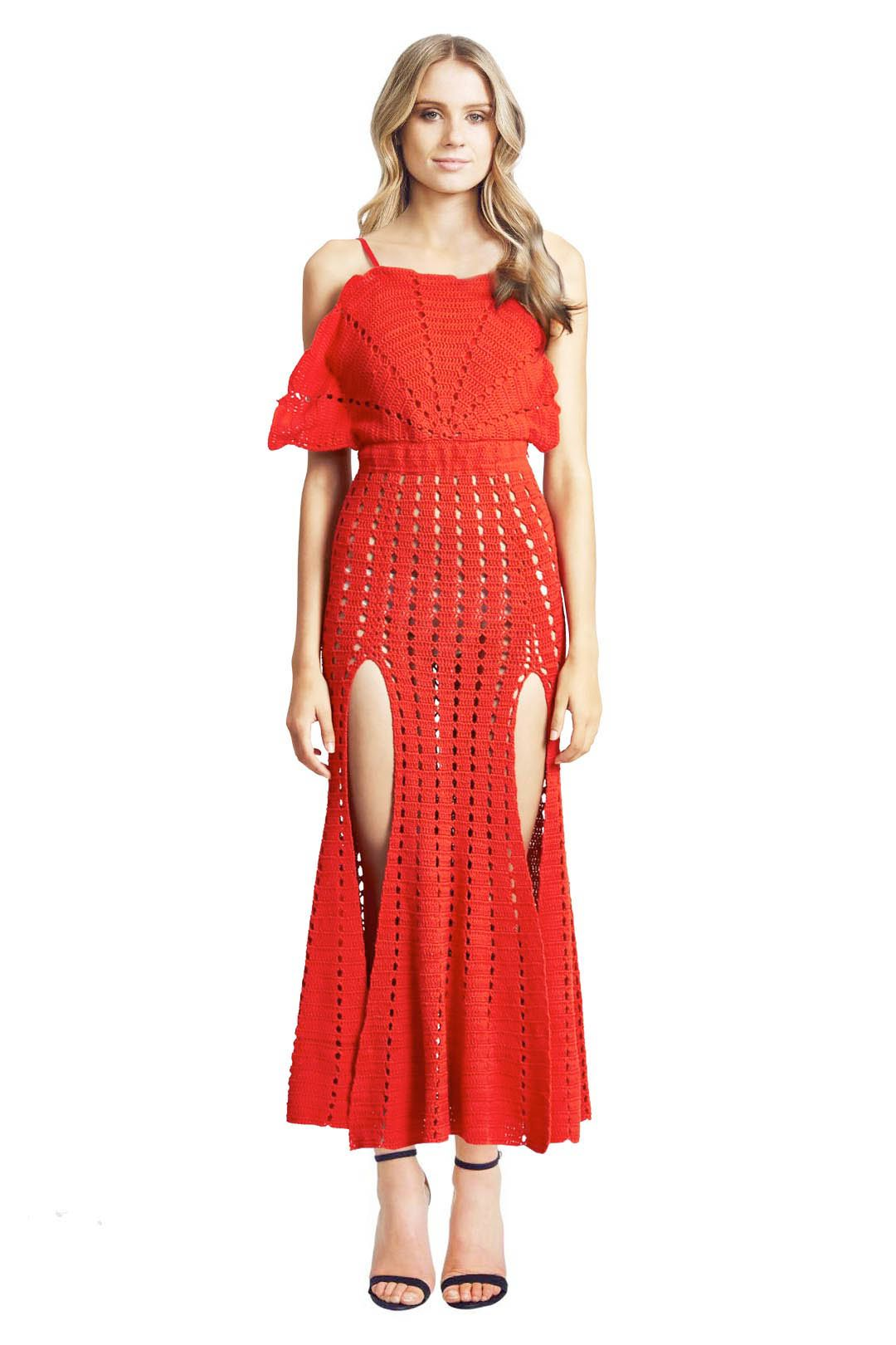 Alice McCall - Room is on Fire Dress - Red - Front