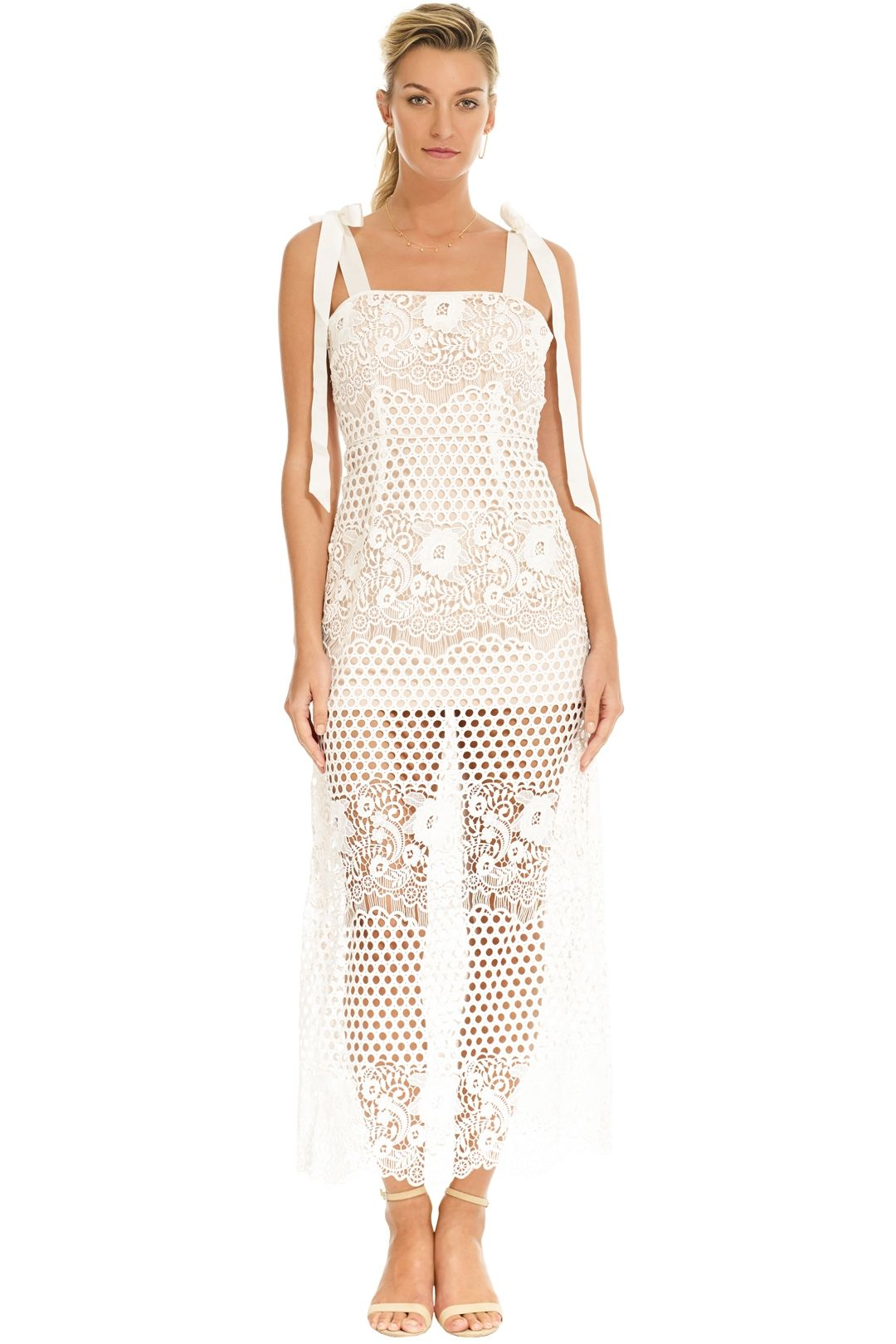 Alice McCall - Secret Lover Dress - White - Front