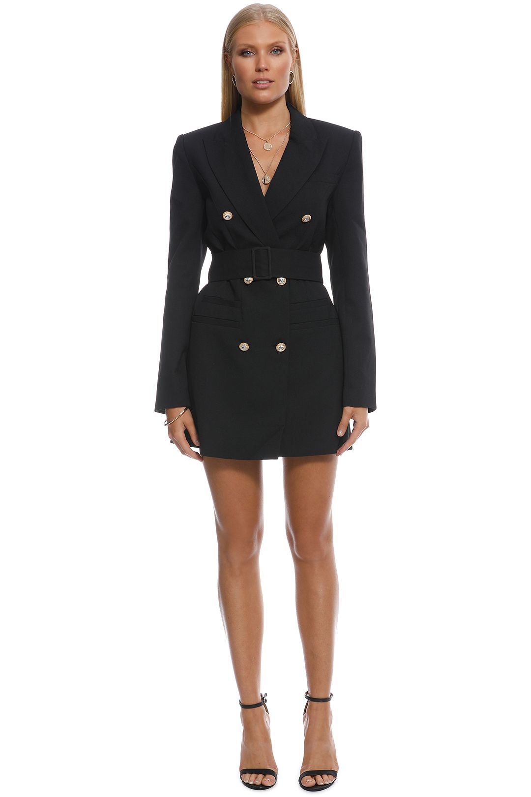 Alice McCall - Thats All Coat - Black - Front